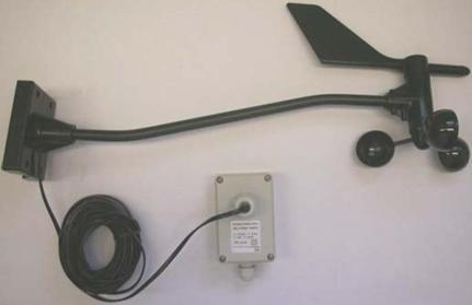 Wind vane –  Anemometer with transmitter
